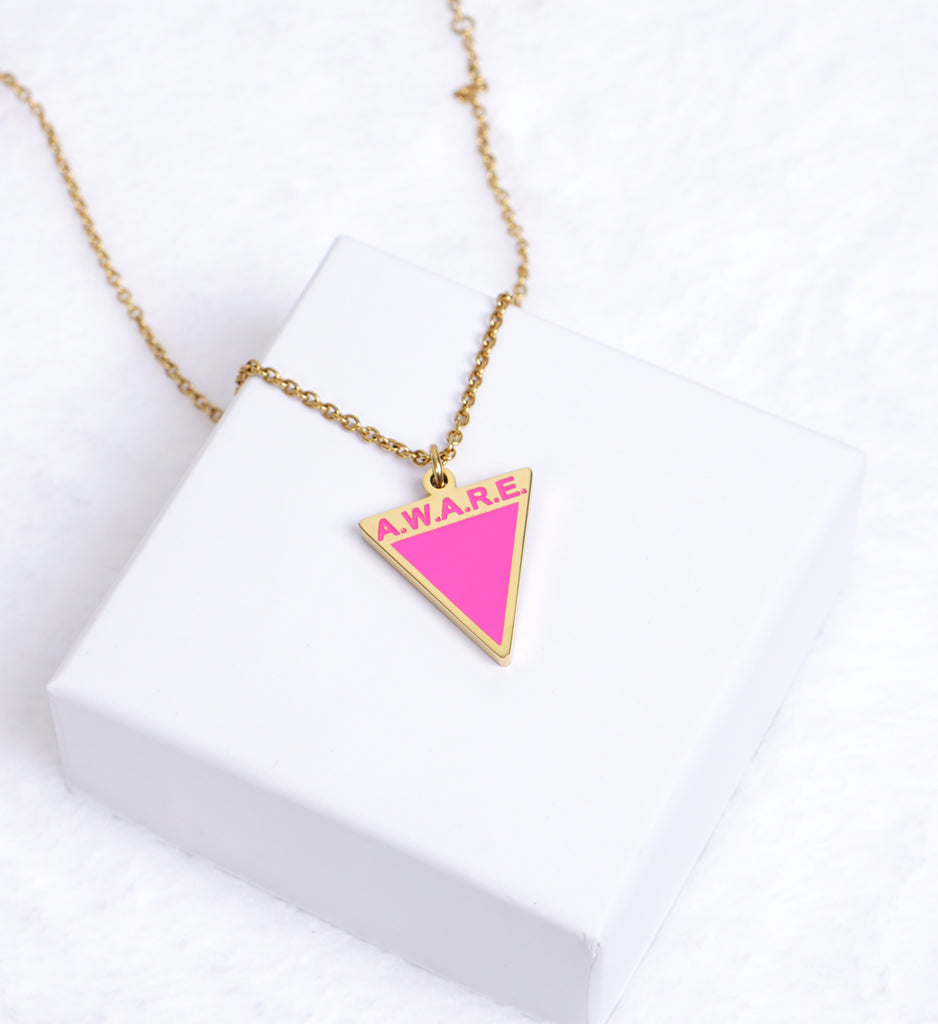 AWARE Pink Necklaces - Causes