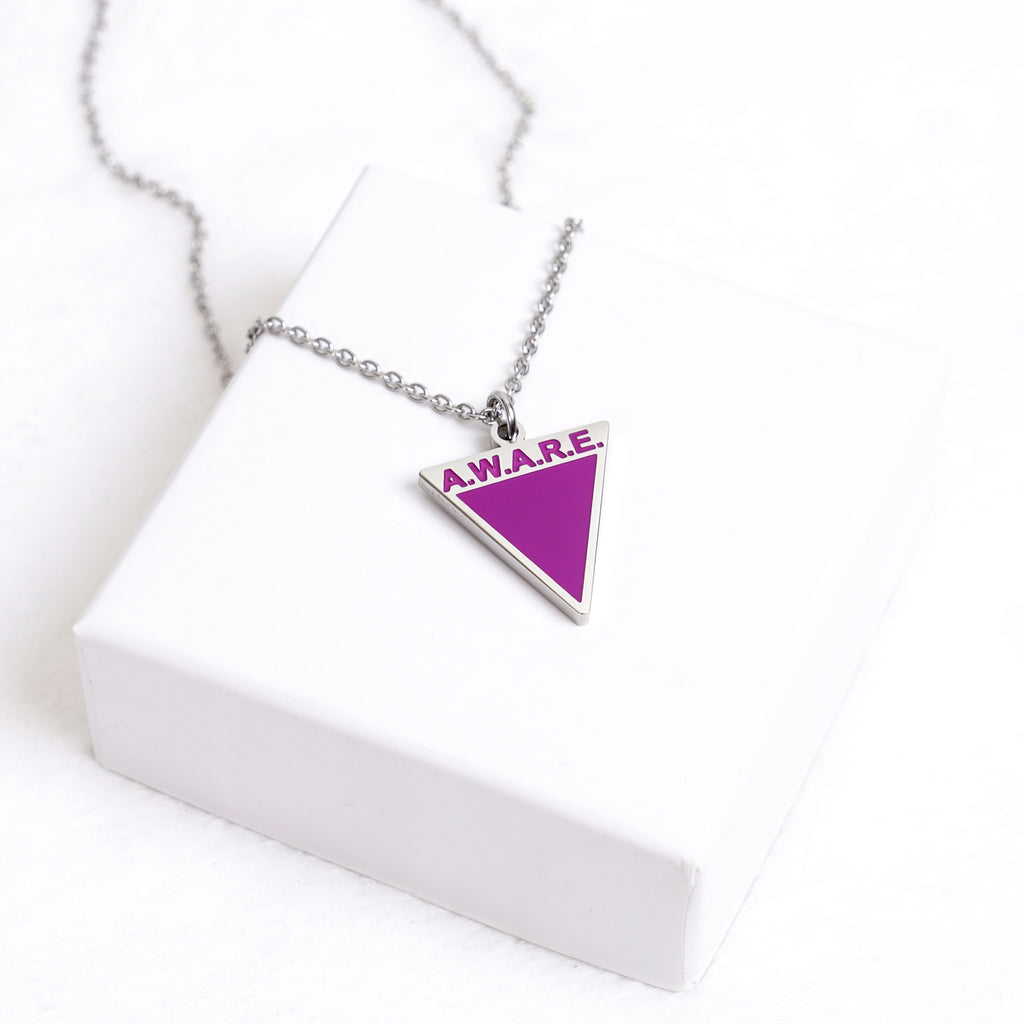 AWARE Purple Necklaces - Silver