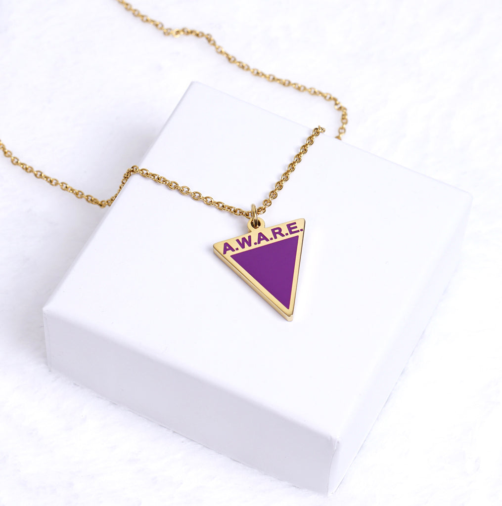 AWARE Purple Necklaces - Causes