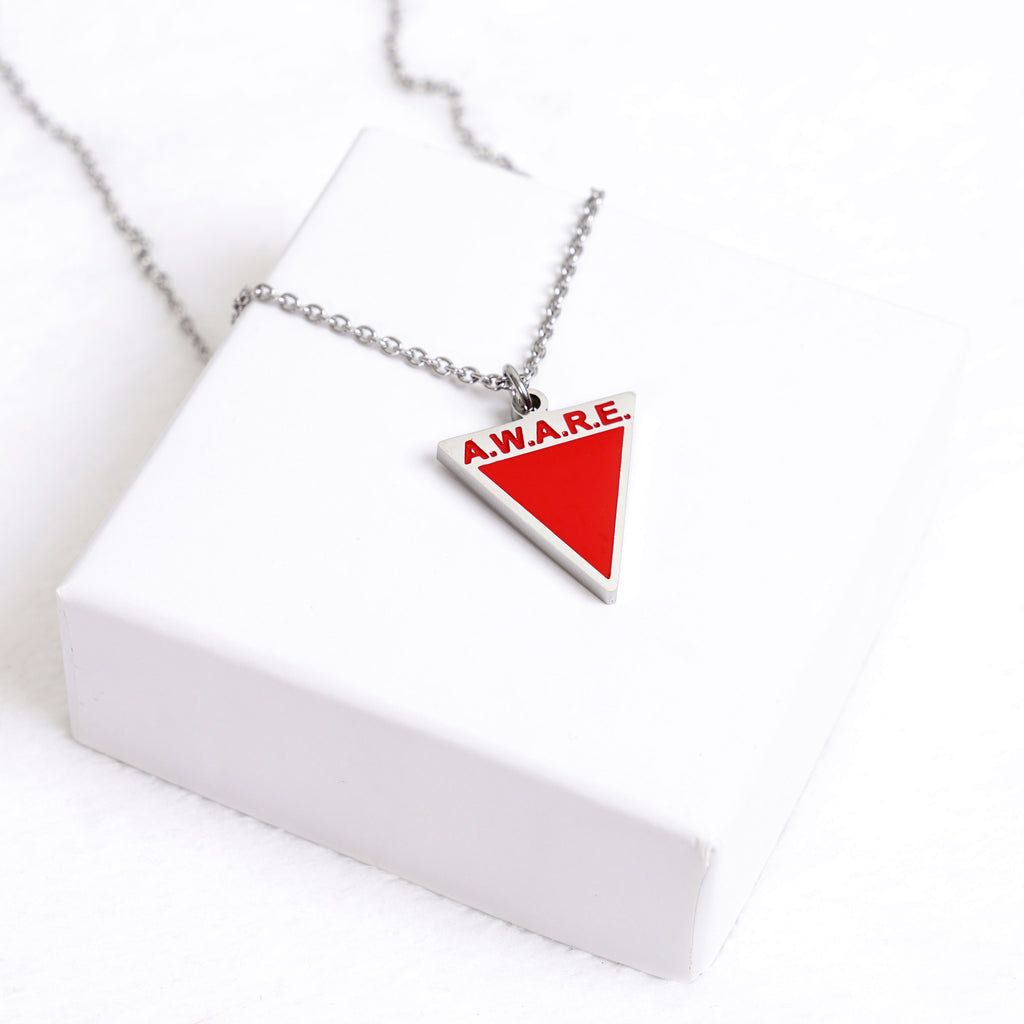 AWARE Red Necklaces - Silver