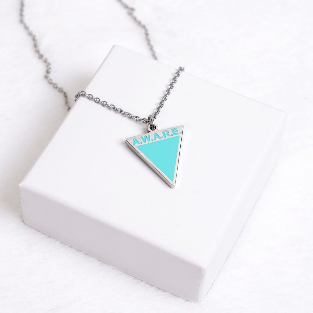 AWARE Teal Necklaces - Silver