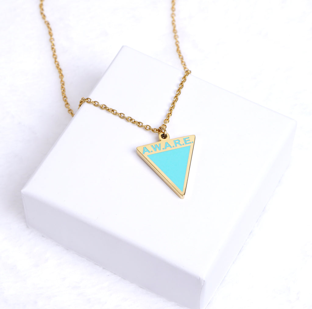 AWARE Teal Necklaces