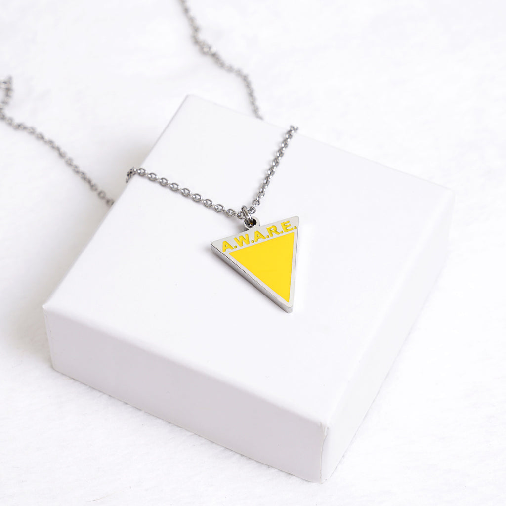 AWARE Yellow Necklaces - Causes - Silver