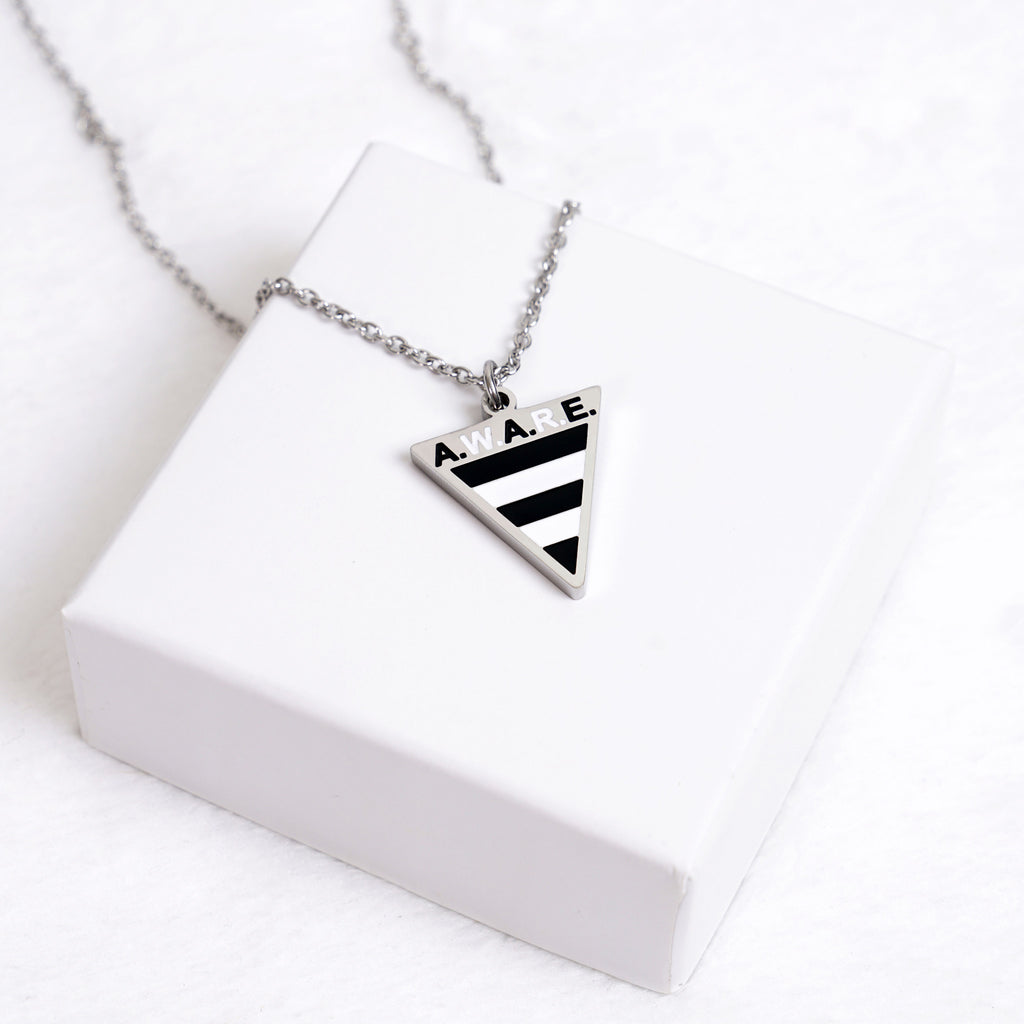 AWARE Zebra Stripe Necklaces - Silver