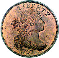 flowing hair large cent