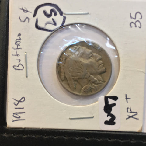 Buffalo Nickel 1918 Extra Fine plus EF++