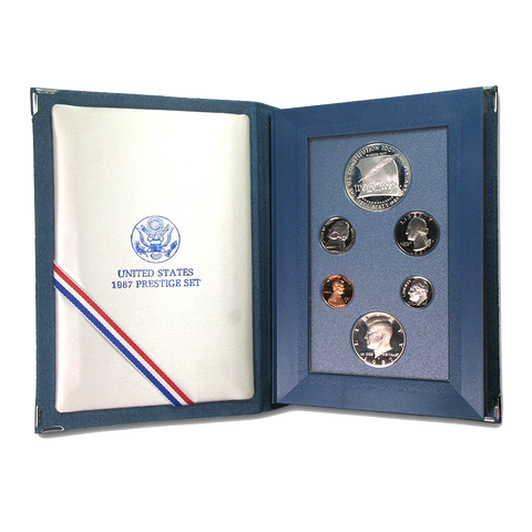 107G 1987 US Constitution Silver Prestige Proof Set; In Original Mint Presentation Case