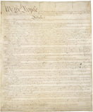We The People Antique 11 x 17 Ivory Print US Constitution