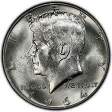 John Fitgerald Kennedy - JFK - Half Dollars - Denver Mintage Uncirculated