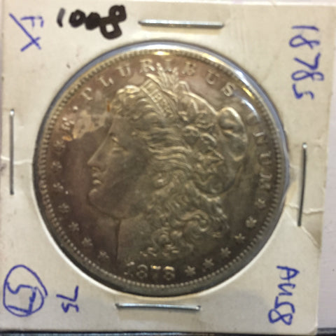 * MORGAN SILVER DOLLAR - 1878 S - AU