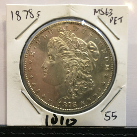 * MORGAN SILVER DOLLAR - 1878 S - GEM UNCIRC