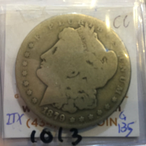 1879 Morgan Dollar - Good CC Carson City - obverse