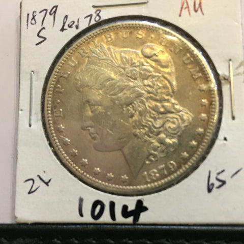Morgan Dollar S San Francisco 1879 obverse with 1878 reverse