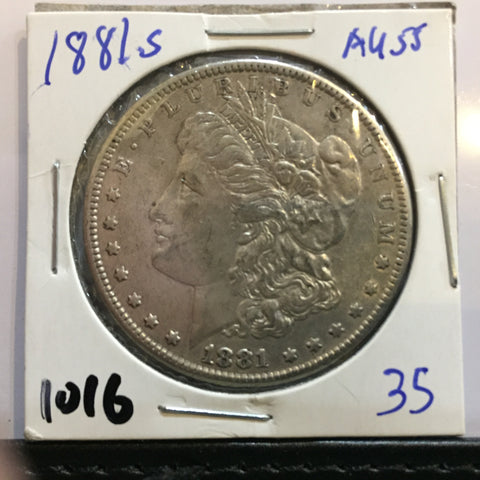 1881 S Morgan Dollar San Francisco Almost Uncirculated
