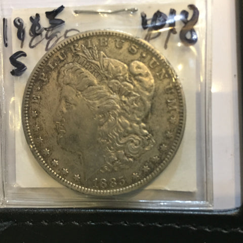 Morgan Dollar 1885 O New Orleans Very Fine Extra Fine Condition EF +