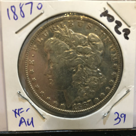 Morgan Dollar 1887 VF EF New Orleans Extra Fine