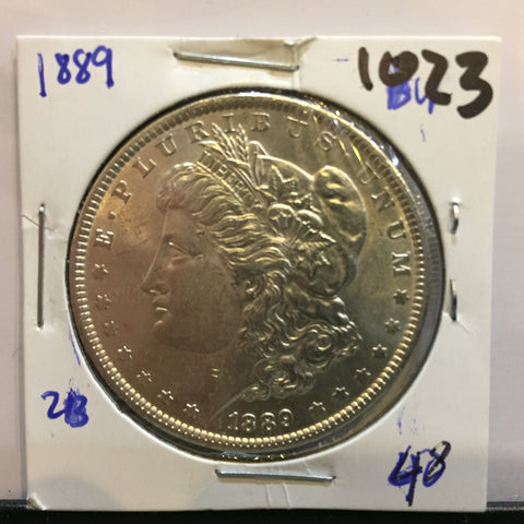 Morgan Dollar 1889 Philadelphia Brilliant Uncirculated BU