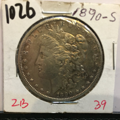 Morgan Dollar 1890 S San Francisco Extra Fine EF VF