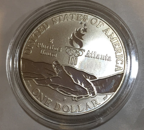 * Atlantic Olympic Gymnasts Commemorative Edition Silver Dollar 1995 P GEM PROOF Philadelphia