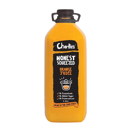 Charlies Honest Squeezed Orange Juice 2L