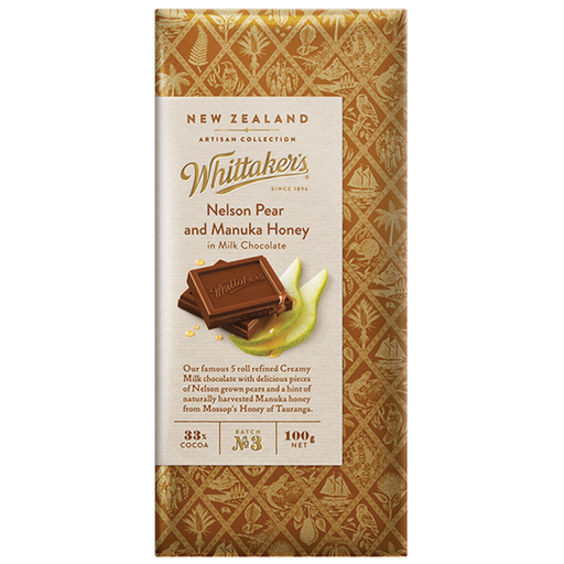 Whittakers Nelson Pear & Manuka Honey Chocolate 100g