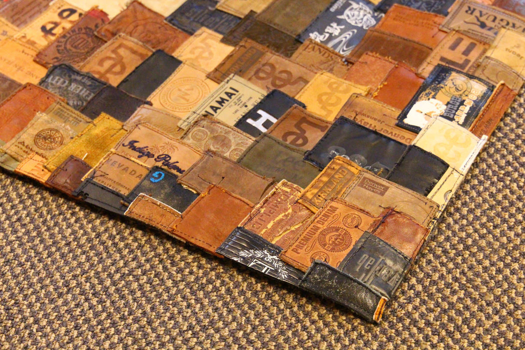 Rug - Handmade From Recycled Jeans Leather Labels