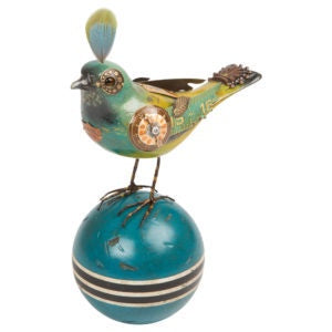 Bird - Mixed Media Art Sculpture, Hand Made of Found Objects