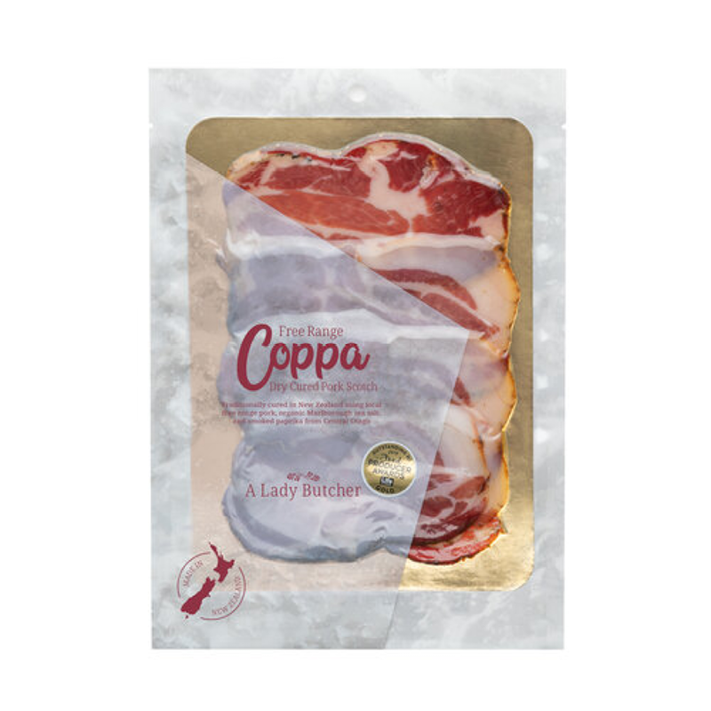 NZ Free Range Coppa - A Lady Butcher - 60g pack