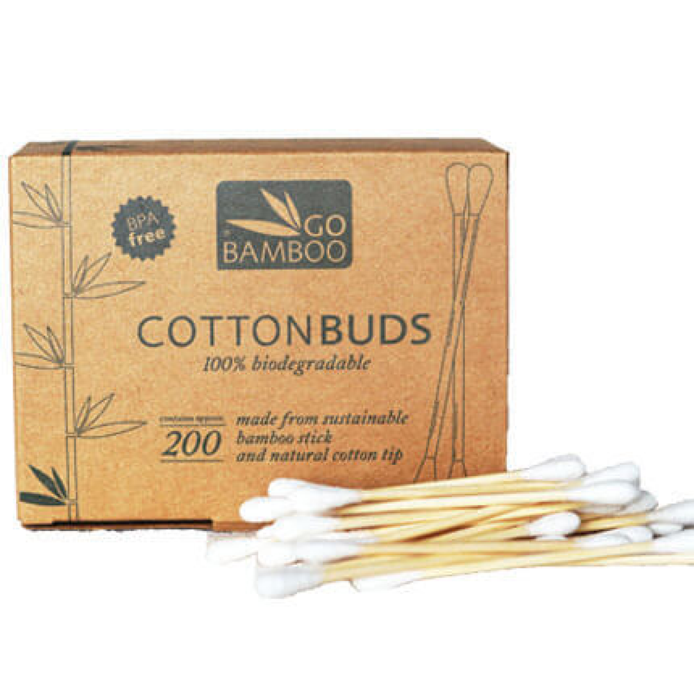 Cotton Buds - Go Bamboo - Biodegradable (Pack of 200)