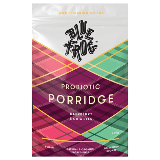 Porridge - Blue Frog - Probiotic, Raspberry 440g