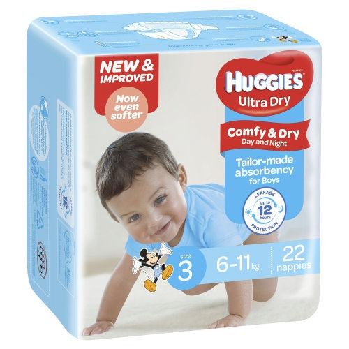 Nappies SIZE 3 BOYS Huggies