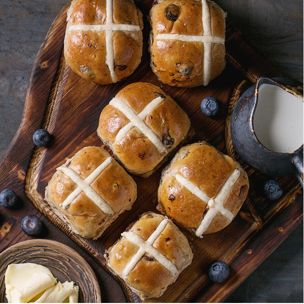 Hot Cross Buns - European Bakery QTN - pack of 6