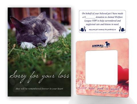Cat With Sympathy Card with Donation