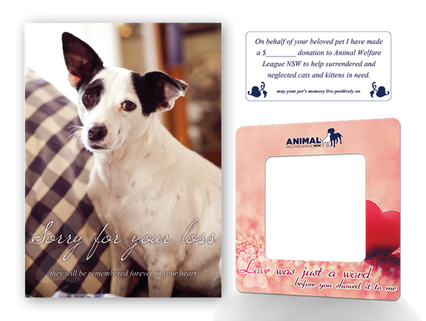 Dog With Sympathy Card with Donation