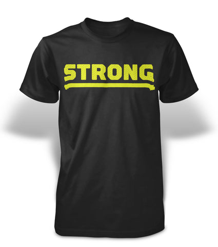 StrongerRX Strong T-Shirt - Black - StrongerRX