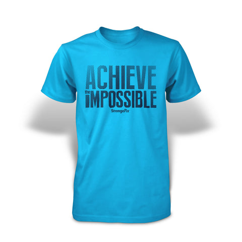 StrongerRX Achieve The Impossible T-Shirt - Aqua - StrongerRX