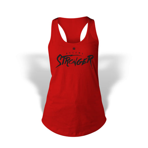 StrongerRX Become Stronger Tank Top / Red