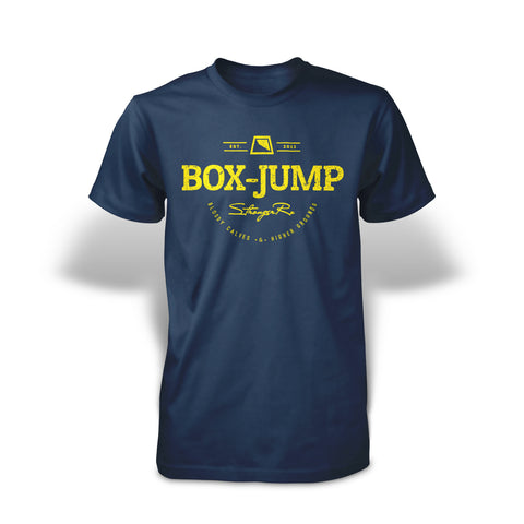 StrongerRX Box-Jump T-Shirt - Navy - StrongerRX
