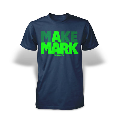StrongerRX Make A Mark T-Shirt - Navy - StrongerRX