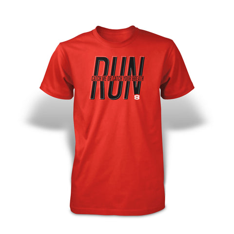 StrongerRX RUN T-Shirt / Red