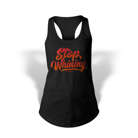 StrongerRX Stop Whining Tank Top / Black