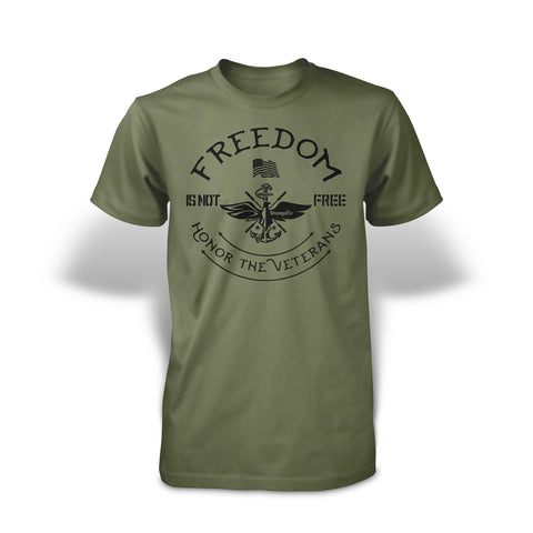 StrongerRX Veteran T-Shirt - Army Green - StrongerRX
