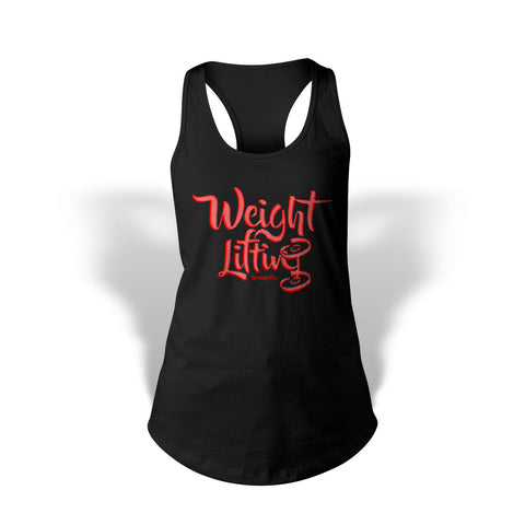 StrongerRX Weight Lifting Tank Top / Black