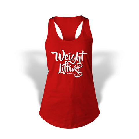 StrongerRX Weight Lifting Tank Top / Red
