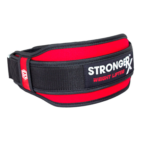 StrongerRX TR3 Weight Lifting Belt - Red - StrongerRX - 4