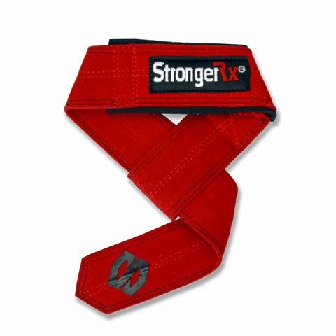 StrongerRX TR3 Lifting Straps / Red