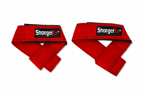 StrongerRX TR3 Lifting Straps / Red - StrongerRX - 4