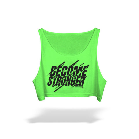 StrongerRX Become Stronger Crop Top / Green - StrongerRX