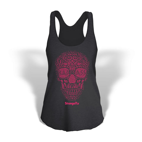 StrongerRX Bad Ass Skull Tank Top / Black