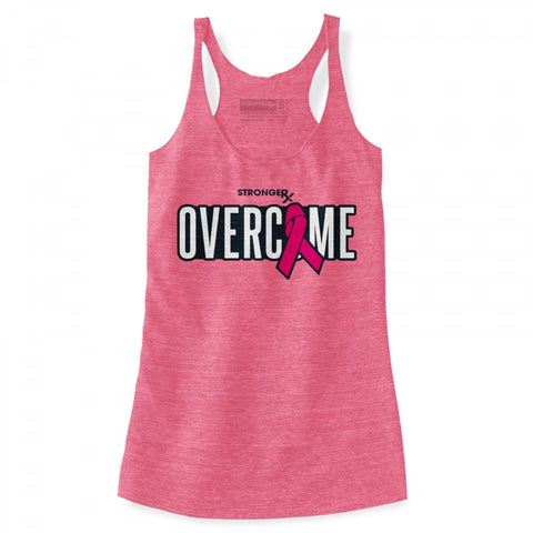 StrongerRX Overcome Tank Top / Pink - StrongerRX